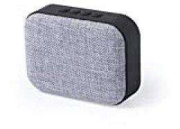MKTOSASA - Altavoz Bluetooth y 3W de Potencia. Función Manos Libres, Ranura para Tarjetas Micro SD de hasta 32 GB de Capacidad, Reproductor USB y función Radio FM- 11.1x8.3x4.1 Gris/Negro…