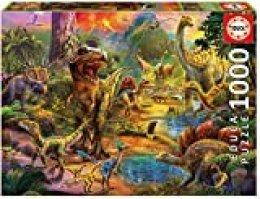 Educa Borrás Puzzle 1.000 Piezas, Tierra de Dinosaurios 17655