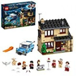 LEGO Harry Potter Número 4 de Privet Drive Set con Ford Anglia, Figura de Dobby y Familia Dursley, Multicolor (75968)
