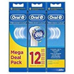 Oral-B Precision Clean Cabezales de Recambio, Pack de 12 Unidades