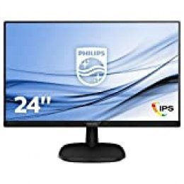 "Philips 243V7QDSB/00 - Monitor IPS de 24"" (Full HD, 1920x1080, Sin bordes, Flicker Free, Low Blue Mode, VESA, VGA + HDMI + DVI)"