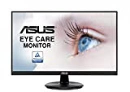 "ASUS VA24DQ - Pantalla para PC de 23,8"" FHD - Panel IPS - 16:9-75 Hz - 5 ms - 1920 x 1080-250 CD/m2 - DP, HDMI, VGA - Flicker Free - Filtros de luz Azul - AMD FreeSync"