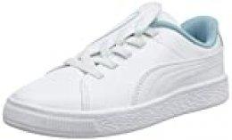 PUMA Basket Crush AC PS, Zapatillas para Niñas, White-Milky Blue, 30 EU