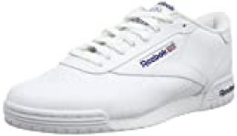 Reebok Ex-o-Fit Clean Logo Int, Zapatillas para Hombre, Blanco (AR3169_39 EU_White/Royal Blue/Royal Blue), 45