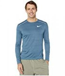 Nike M Nk Dry Miler Top LS Long Sleeved T-Shirt, Hombre, Thunderstorm/Thunderstorm/(Reflective silv), 2XL