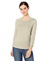 Marca Amazon - Daily Ritual: camiseta de manga 3/4 de algodón ligero para mujer