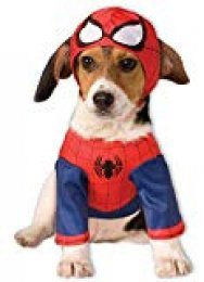 Disfraz para mascota - Spiderman superhéroe, perro talla S