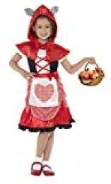 Smiffy's-41100L Miffy Disfraz de Miss Caperuza, con Vestido y Capa con Capucha con Orejas de Lobo acopladas, Color Rojo, L-Edad 10-12 años (41100L)