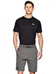 Under Armour Rival Fleece Short, Pantalón Corto Hombre, Gris (Charcoal Light Heather/Black 020), S