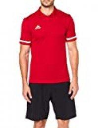 adidas T19 M Camiseta Polo, Hombre, Power Red/White, L