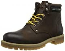 JACK & JONES Jfwstatton Leather, Botas Clasicas para Hombre, Marrón (Coffee Bean Coffee Bean), 41 EU