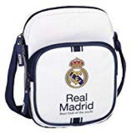 safta- Real Madrid-Bandolera pequeña, 1ª equipacion Temporada 2016/2017 611654672, Color Blanco, 22 cm (