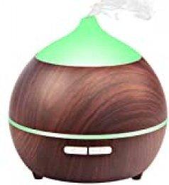 Avaspot Humidificador Ultrasónico Aromaterapia, 250 ML Difusor de Aceites Esenciales Aromaterapia con 7-Color LED, Auto-apagamiento para Hogar, Oficina, Bebé