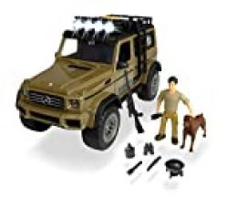 Set M Playlife de caza AMG 500 con figura y accesorios (Dickie 3834002)