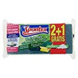 Spontex Universale - Set de 3 estropajos salvauñas con fibra de extractos minerales, color verde - [Pack de 8]