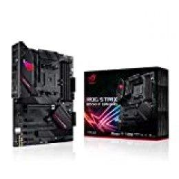 ASUS ROG Strix B550-F Gaming - Placa Base Gaming ATX AMD AM4 con VRM de 14 Fases, PCIe 4.0, Intel 2,5 GB LAN, Dual M.2, Micrófono cancelación Ruido, USB 3.2 Gen 2 e iluminación RGB Aura Sync