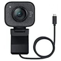 Logitech StreamCam, Cámara Web con USB-C para Streaming de vídeo y creación de Contenido, Vídeo Vertical Full HD 1080p a 60 fps, Versatilidad demontaje, para Youtube, Gaming Twitch, PC/Mac, Negro