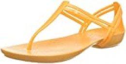 Crocs Isabella T-Strap, Sandalias de Punta Descubierta para Mujer