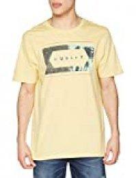Hurley Frame Work Palm PRM tee SS Camisetas, Hombre, Lemon Wash htr, M