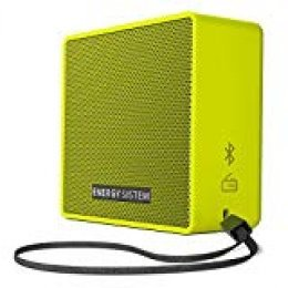 Energy Sistem Music Box 1+ - Altavoz Portátil, Bluetooth v 4.1, 5 W, microSD MP3, Radio FM, Audio-In, Color Verde (Pear)