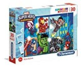 Clementoni- Puzzle 30 Piezas Superhero (20256.0)