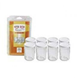 Seb 989641 Juego De Botes Con Tapa Para Yogurtera, Vidrio, Transparente