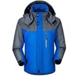 Chaqueta de esquí Impermeable para Hombre, de montaña, cálida, de Invierno, con Capucha, Cortavientos