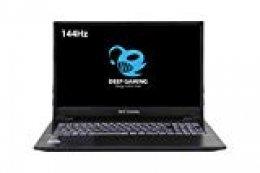"""DeepGaming Silex - Ordenador portátil Gaming 16.1"""" FullHD 144Hz (Intel Core i7-9700, 16GB RAM, 240GB SSD + 2TB HDD, Nvidia GTX 1650 4GB DDR5, W10 Preinstalado) Teclado QWERTY  Español"""