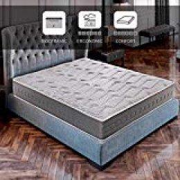 ROYAL SLEEP Colchón viscoelástico Carbono 140x190 firmeza Alta, Gama Alta, Efecto regenerador, Altura 25cm - Colchones Ceramic Plus