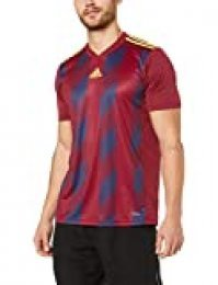 adidas Striped 19 JSY Camiseta de Manga Corta, Hombre, Collegiate Burgundy/Bright Yellow, 5-6Y