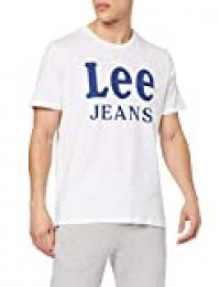 Lee Jeans tee Camiseta, Blanco (Bright White Lj), Medium para Hombre