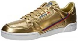adidas Continental 80, Zapatillas de Gimnasio para Hombre, Gold Metallic Gold Metallic Crystal White, 42 EU
