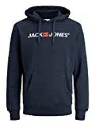Jack & Jones Jjecorp Logo Sweat Hood Noos Capucha, Azul (Navy Blazer Detail: Reg Fit), XX-Large para Hombre