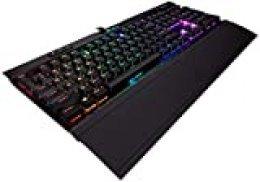 Corsair K70 MK.2 RGB Low Profile  Teclado mecánico para Gaming retroiluminación LED RGB, QWERTY Español, Cherry MX Speed (Rápido y altamente preciso)