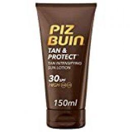 Piz Buin - Protector Solar, Tan & Protect Intensificador del Bronceado Loción SPF 30 - Pack 2 x 150 ml