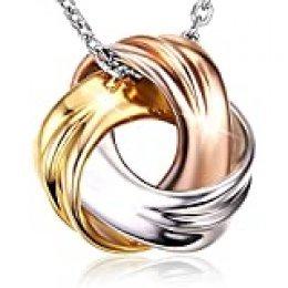 """- J. Rosée - Collar de plata 925 """"Occhi d´Athena"""" de 3 colores (blanco, dorado y oro rosa). Este collar de moda es el regalo perfecto para San Valentín, Navidades, eventos y para madres y/o novias"""