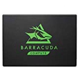 Seagate BarraCuda 120 SSD, 1 TB, Unidad de estado sólido interna, SSD, 2.5 pulgadas, SATA a 6 Gb/s para portátil, ordenador de sobremesa o PC (ZA1000CM10003)
