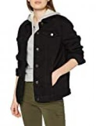 New Look Oversized Peachy Jacket Chaqueta, Negro (Black 1), 40 (Talla del Fabricante: 12) para Mujer