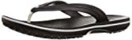 Crocs Crocband Flip, Chanclas Unisex-Adult, Black, 41/42 EU