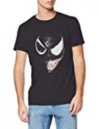Marvel Universe Venom Split Face Camiseta, Negro (Black Blk), Large para Hombre