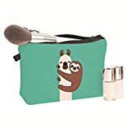 Mumiumius Bolsa de aseo Bolsa de cosméticos Bolsa de lavado para niños Niñas Mujeres Estampado animal Cremallera Almacenamiento de maquillaje Bolsa de aseo Estuche de cosméticos