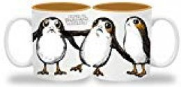 Star Wars The Last Jedi Bear Island Birds Taza, Cerámica, Blanco, 14.5x9.8x11 cm