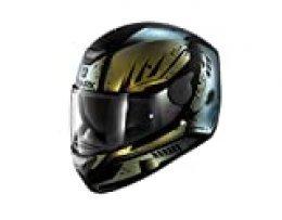 Shark D-SKWAL DHARKOV MAT KGX Casco para moto, talla XS, color negro/verde