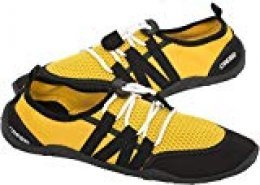 Cressi Elba Pool Shoes Zapatillas Chanclas Unisex Adulto, Amarillo/Negro, 37