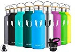 Super Sparrow Botella de Agua aislada al vacío de Acero Inoxidable, diseño de Pared Doble, Boca estándar - 500ml - Eco Friendly & BPA Gratis - para Correr, Gimnasio, Yoga, Ciclismo