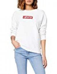 Levi's Relaxed Graphic Sudadera, Blanco (Crew Box Taba White+ 0092), Large para Mujer