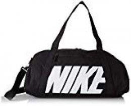 Nike W Nk Gym Club Bolsa de Gimnasio para Mujer, Negro (Blanco/Negro), Talla única