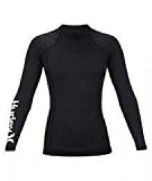 Hurley W One & Only Rashguard L/S Lycra, Mujer, Black, M