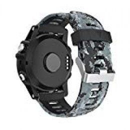 Garmin Fenix 3/Fenix 5 x reloj banda, Yayuu suave silicona reloj accesorio correa de repuesto para SMART Garmin Fenix 3/Fenix 3 HR/Fenix 5 x reloj, blanco (C)