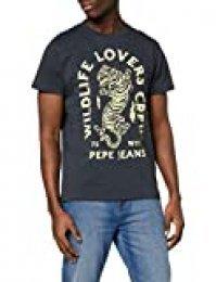 Pepe Jeans Jett Camiseta, Azul (Deep Sea 597), Medium para Hombre